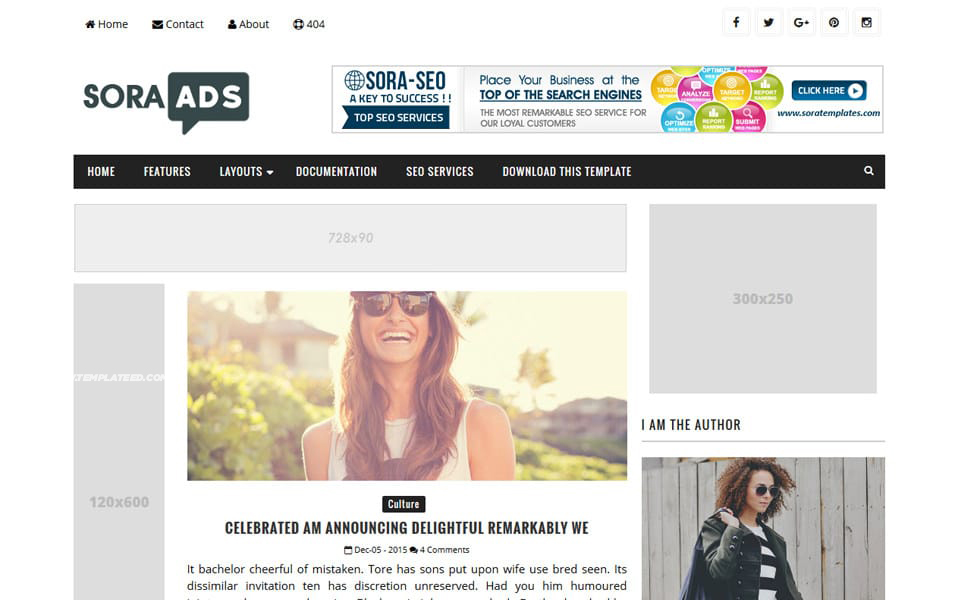 Responsive Ads Ready Blogger Templates