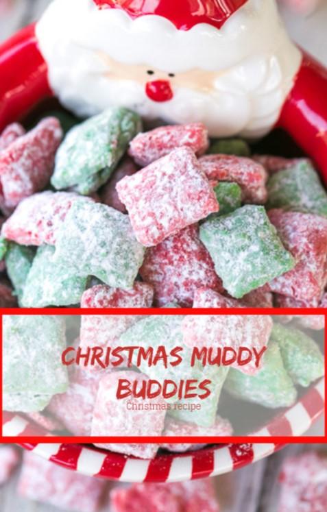 Christmas Muddy Buddies #christmas #snack