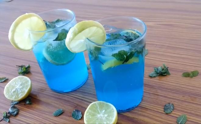 Blue Lagoon Mocktail Drinks Kidfriendly