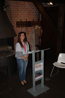 Haizea Uribelarrea presentando el II Encuentro de Patrimonio Minero