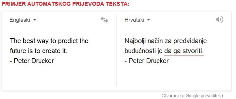 Prevoditelj Sa Hrvatskog Na Engleski Jezik Prevoditeljska