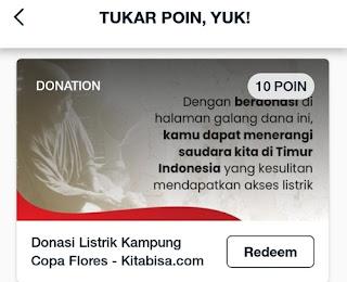 telkomsel poin bisa digunakan donasi di kitabisa.com