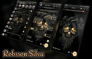 Skull Black Theme For YOWhatsApp & Fouad WhatsApp By Robsson