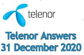 31 December Telenor Quiz Today | Telenor Answers 31 December 2020