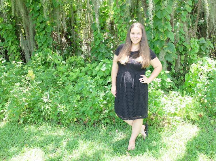 Sweet Turtle Soup: Stitch Fix #2 (maternity) - Gabre Eyelet Knit Maternity Dress by Eight Sixty