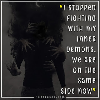 I stopped fighting with my inner demons. We are on the same side now