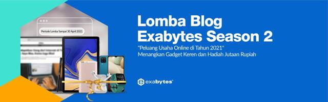 Peluang Usaha Online di 2021, Banner Lomba Exabytes 2021
