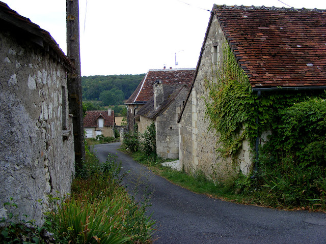 A lane in a hamlet.  Indre et Loire, France. Photographed by Susan Walter. Tour the Loire Valley with a classic car and a private guide.
