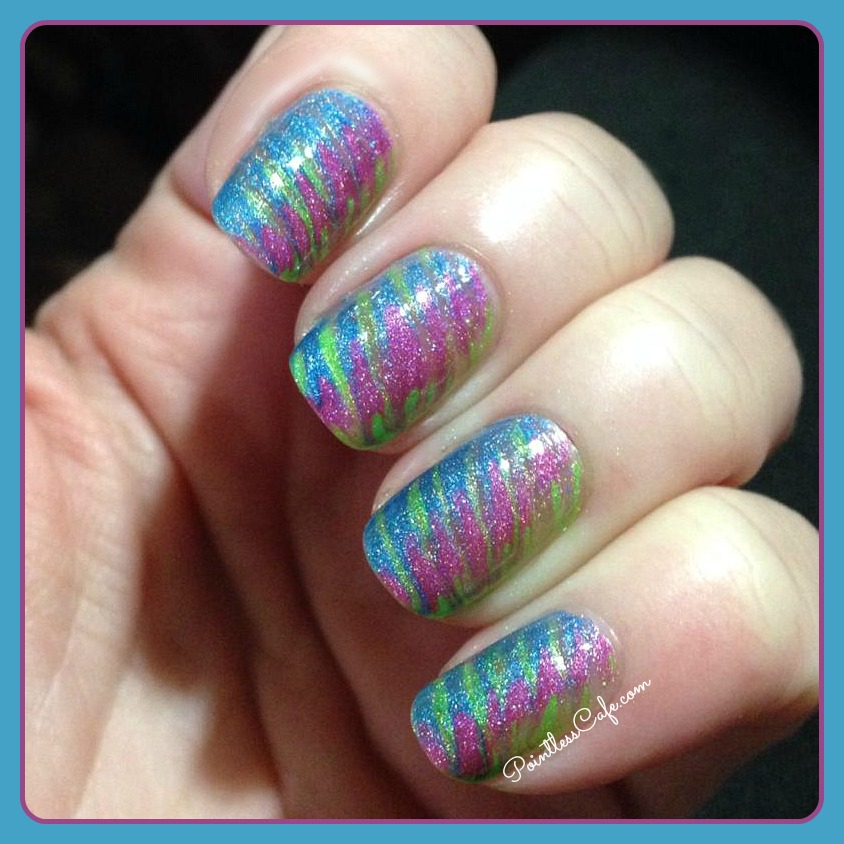 Simple Nail Art Using Toothpick: Darling Diva Polish: Pop Back To The 80s Collection