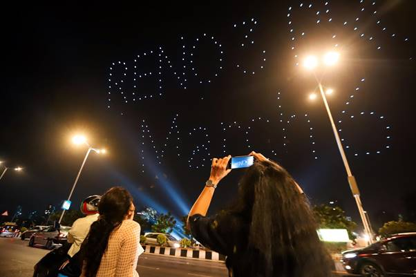 OPPO Hosts India's Biggest Drone Fly Light Show