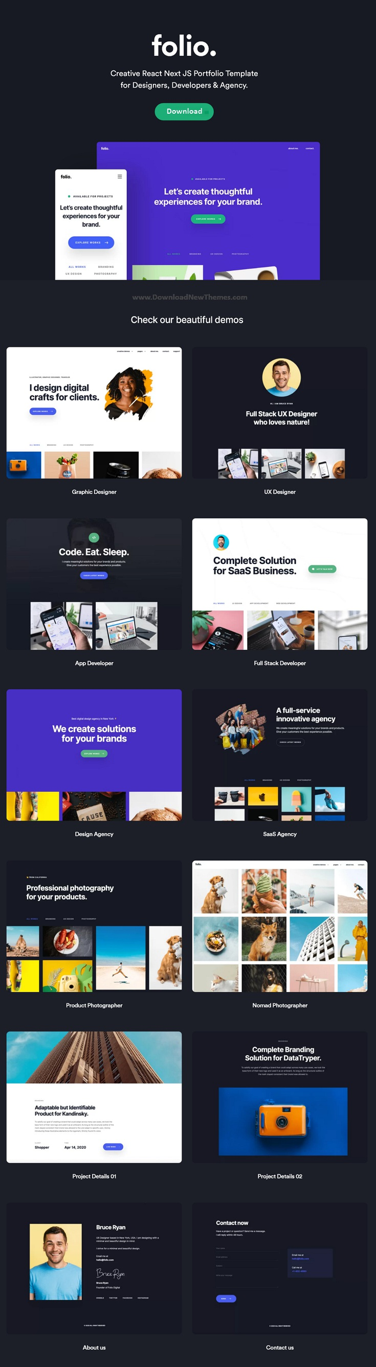 Creative Bootstrap Portfolio Template