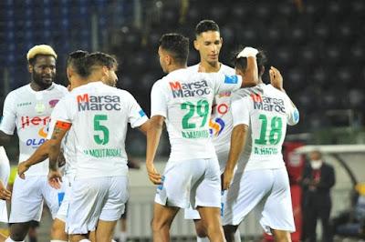 ملخص واهداف مباراة الرجاء والجيش الملكي (2-1) الدوري المغربي