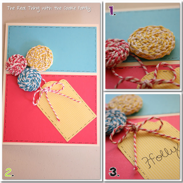 Color Block and Baker's Twine Birthday Card. #Cards #Birthday #RealCoake