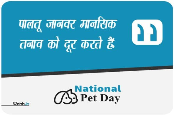 National Pet Day Wishes In Hindi With Images