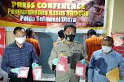 Subdit 3 Ditresnarkoba Polda Sulut Ungkap Sindikat Peredaran Narkotika
