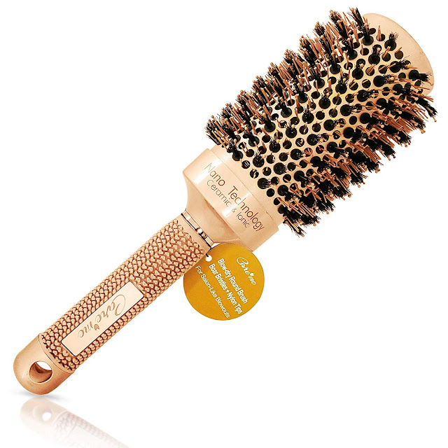 Blow Dry Round Hair Brush with Natural Boar Bristles
