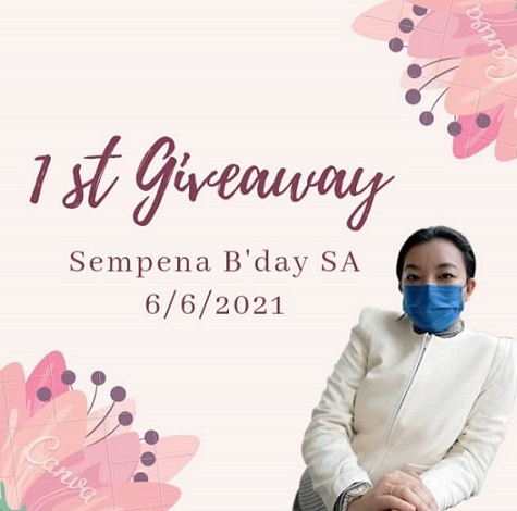 1st Giveaway Sempena Bday SA