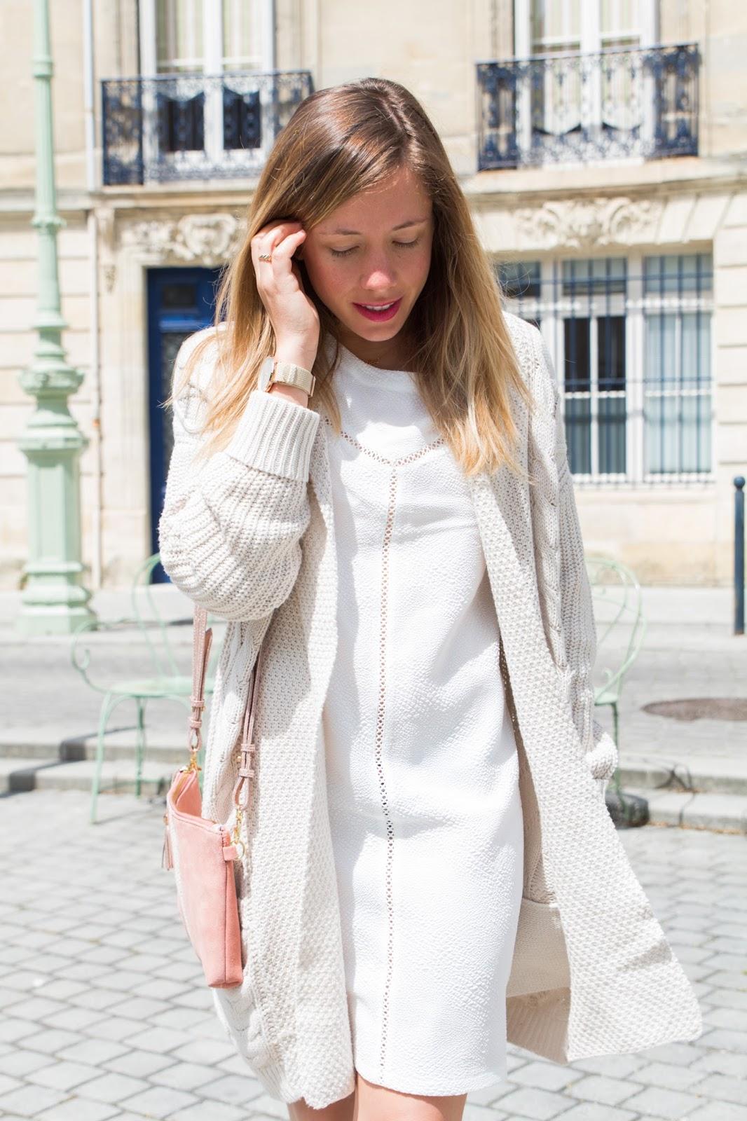 robe blanche le temps des cerises