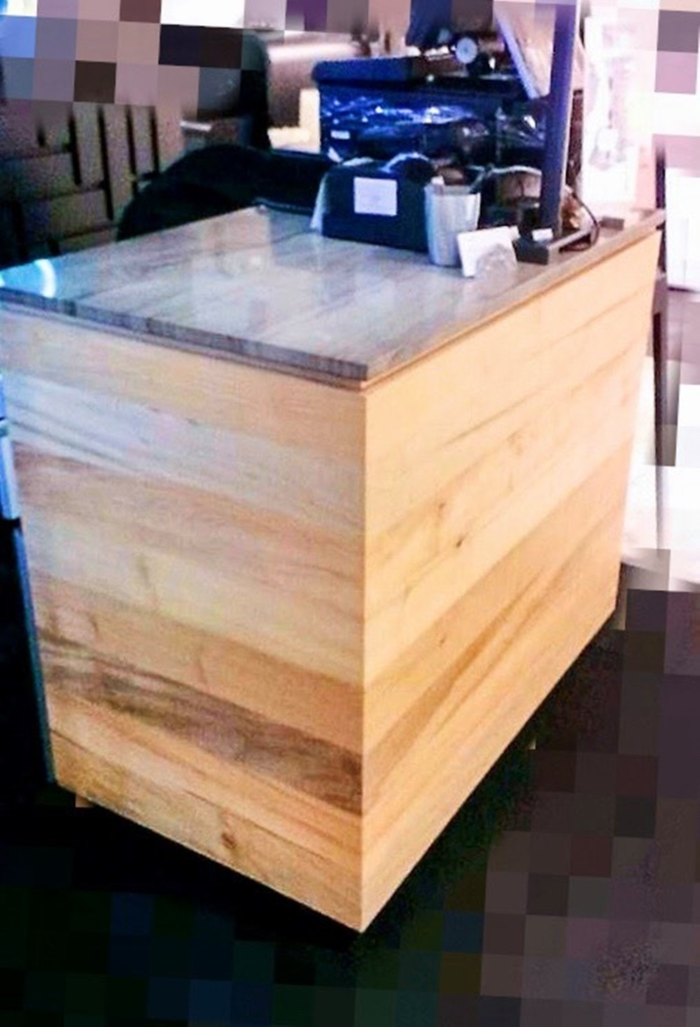 木作櫃,裝潢,商用空間,實木皮板,店面裝潢,櫃位裝潢,美學,天然