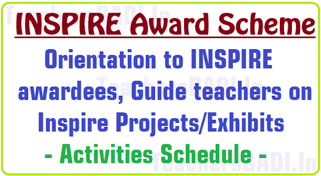 Orientation to INSPIRE awardees,Guide teachers on Inspire Projects