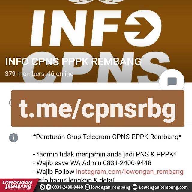 Grup Telegram Info CPNS PPPK Kabupaten Rembang [Non Resmi]