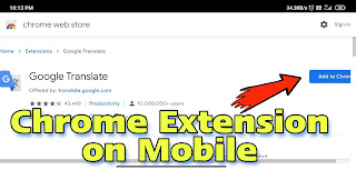 Chrome extensions on mobile