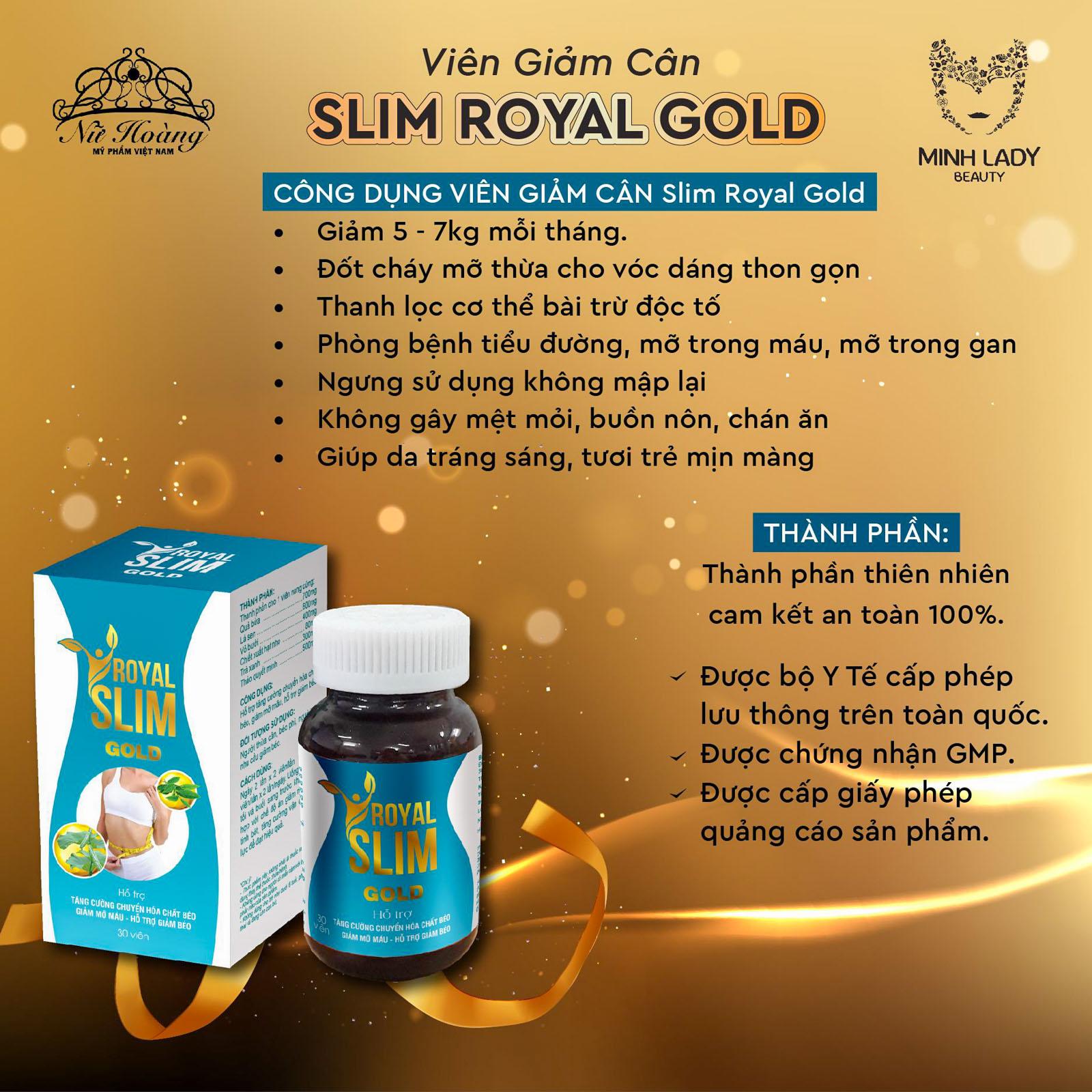 viên uống giảm cân royal slim gold