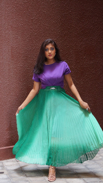 Indian girl in long skirt , indian fashion blogger