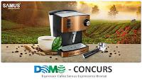 Castiga un espressor cafea Samus Espressimo Bronze 850W