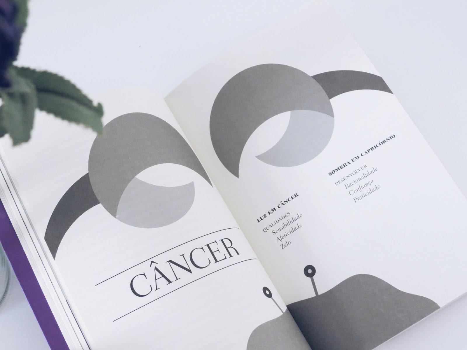 página de livro sobre o signo de câncer
