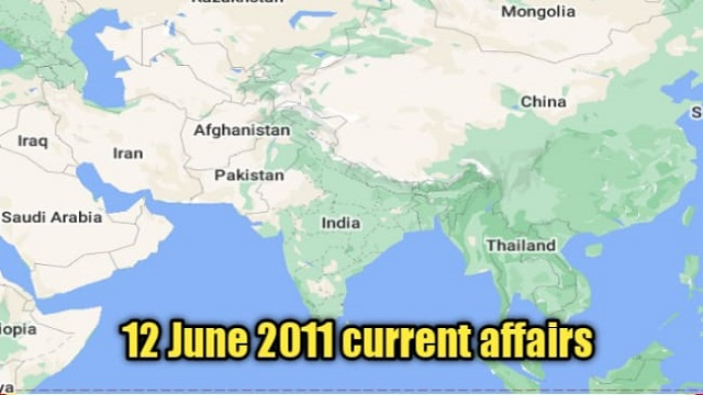 12 जून 2021 : Current affairs in hindi for upsc