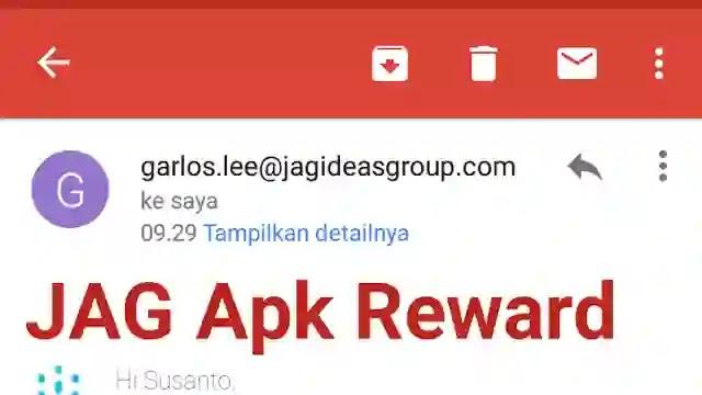 JAG Reward penghasil Pulsa  dan uang gopay Apk Terbaru Pakai Aplikasi - JAG Apk Reward Indonesia