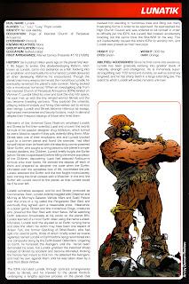 Lunatico Ficha Marvel Comics