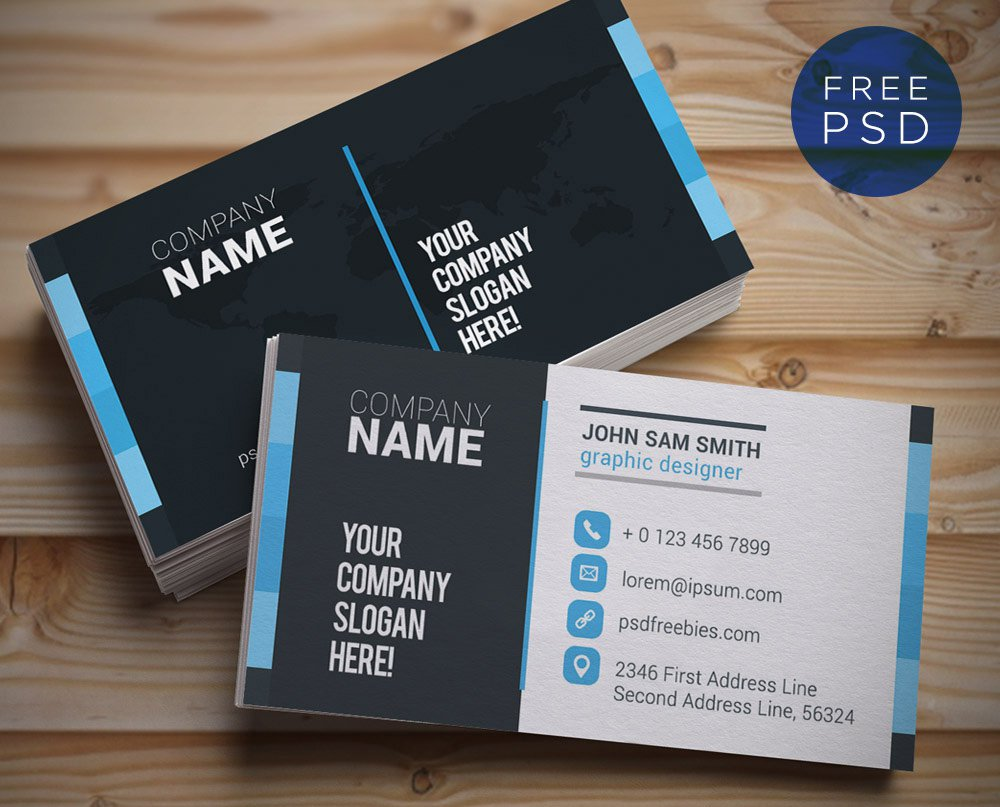 85 Best Free PSD Business Card Templates Photoshop Download ...