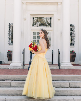 Morgan Pashen as Belle bridal portrait