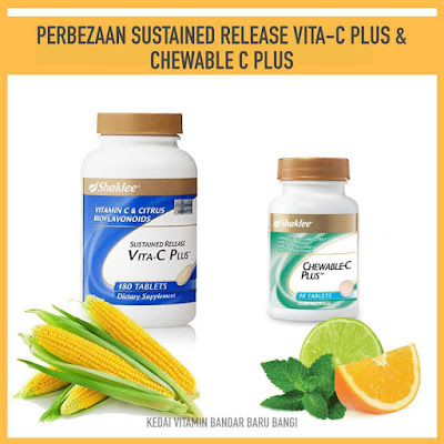 Perbezaan Sustained Release Vita-C Plus Dan Chewable C Plus