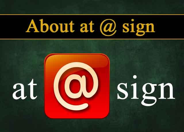 at sign @