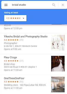 Bridal studio google map
