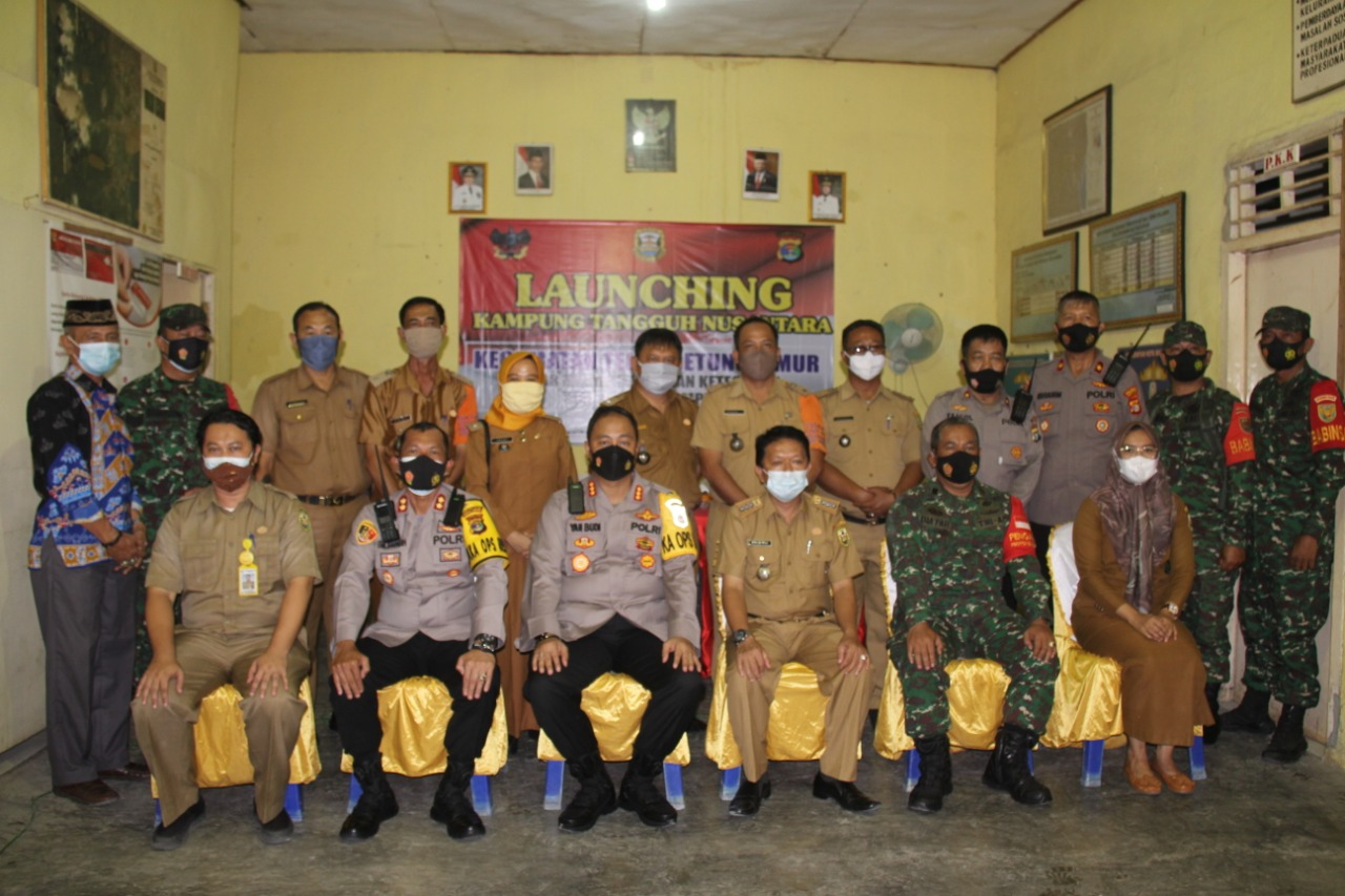 Peresmian Kampung Tangguh Nusantara (KTS) Optimalisasi PPKM berbasis Mikro