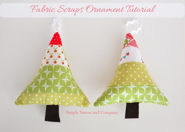Fabric Scraps Christmas Ornaments So Sew Easy