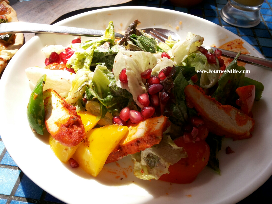 Spiced chicken and pepper salad at German Bakery koregaon pune