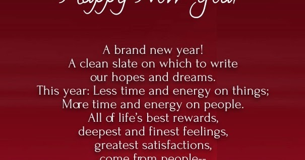 HAPPY NEW YEAR POEM {Your Way To Success}
