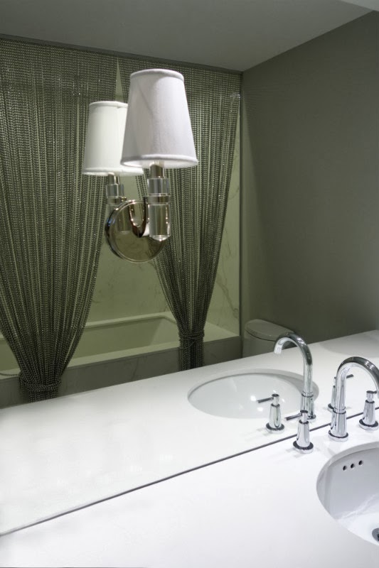 Shimmer Screen Beads Bathroom Renovation