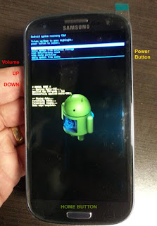 Factory data reset recovery mode