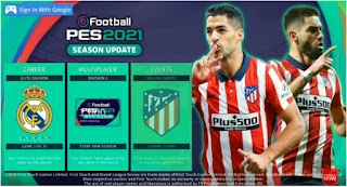 Download DLS 21 Mod eFootball PES 2021 Spesial Atletico Madrid Edition New Update Kits & Transfer 2020/21