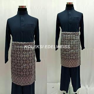 Baju Melayu Cekak Musang  Dark  Blue