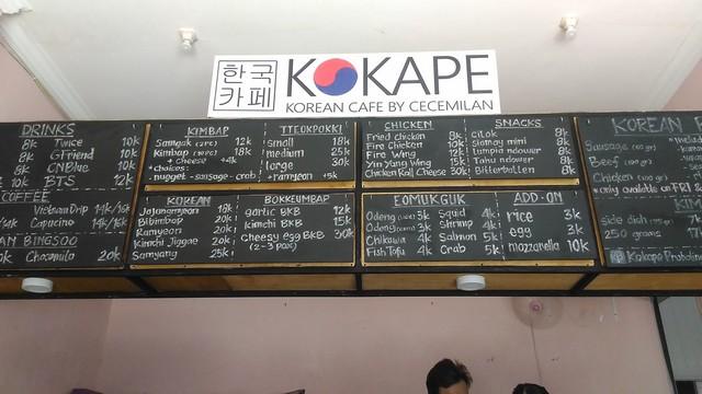 Daftar menu KOKAPE;KOKAPE – Korean Cafe Di Probolinggo;Korean Cafe Menu di KOKAPE Probolinggo