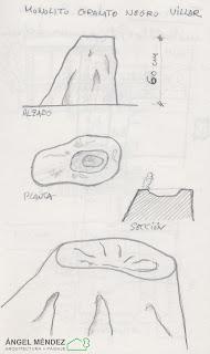 dibujo de jardines, jardines con rocas, jardines con piedras, monolitos de piedra