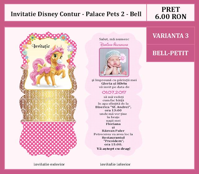 invitatii botez contur Palace Pets 2