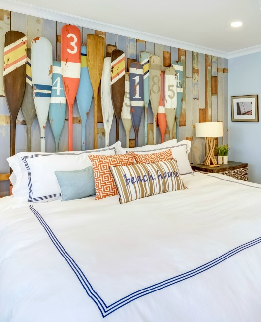 Painted Oars Headboard